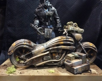 Post Apocalyptic Motorcycle Stormtrooper wasteland warrior custom  1:6 Action figure