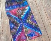 Xl tie dye pants ice dye hippie pants plus size clothing