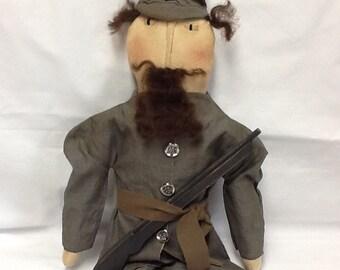 Primitive Civil War Rebel Soldier