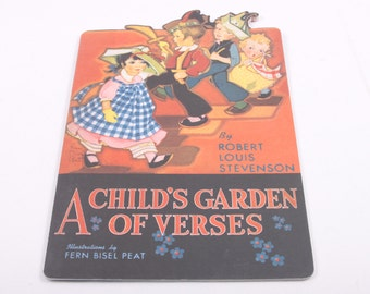 A Child's Garden of Verses - Fern Bisel Peat, Reproduction Antique Book - So cute! - Poetry ~ The Pink Room ~ 161215