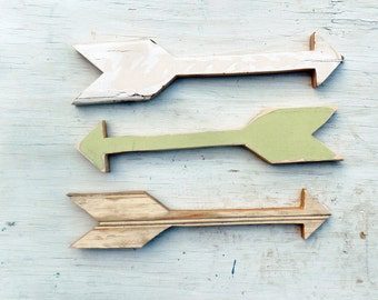 Three Wood Arrows, Tribal Decor, Reclaimed Wood Arrow Wall Art, Bohemian Decor, Decorative Arrow Nursery Decor Wooden Arrow Wood Wall Arrows