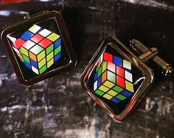 Retro....... Rubik's Cube Cufflinks