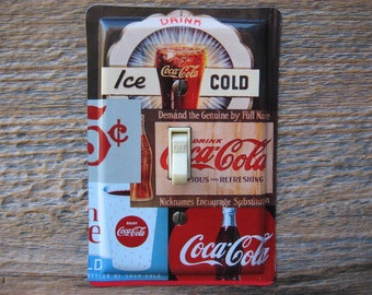 Coke Coca Cola Kitchen Light Switch Cover Switchplates Switchplate Made From An Old Tin Can Art SP-0091