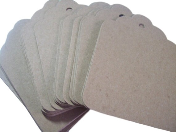 Gift tags,  3.5x4.5 inch Large, Kraft ,place cards, set of 50