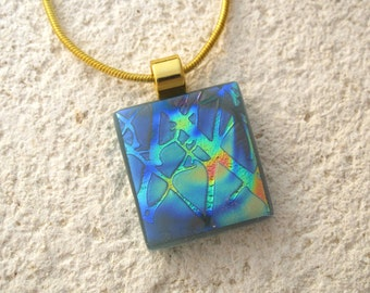 Petite Branches Necklace, Fused Glass Jewelry, Dichroic Jewelry, Tree Necklace, Dichroic Jewelry, Nature Jewelry, Glass Jewelry, 101615p104
