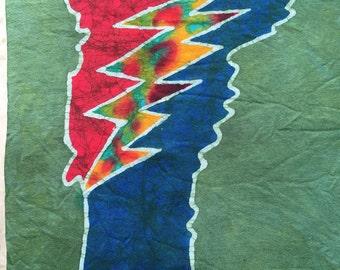 Batik Vermont Tie Dyed Lightning Bolt T Shirt- Size  S, L or XL