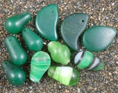 African Wedding Beads Old Glass Trade Beads Greens Destash