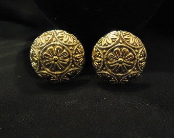 Vintage Large Gold Clip Earrings