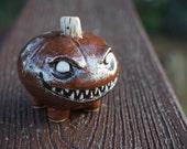 Evil Pumpkin ceramic desk pet