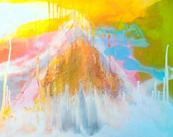 Eruption 20x24 inch Abstract Spray Painting