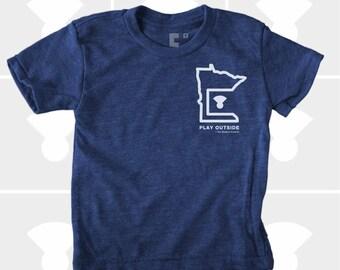 Play Outside   Minnesota Shirt   Boy's TShirt   Minnesota Gift   Minneapolis   Duluth   Gift for Boys   Boys Clothing   St. Paul   MN