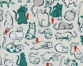 Cotton + Steel Cat Lady - schmitties teal - 50cm