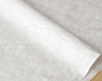 Japanese Fabric Yuwa enshuku floral jacquard lawn - white - 50cm