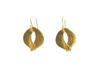 Tiny Sculptured Organic Earrings