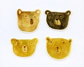 Bemused Bears - set of 4 stickers