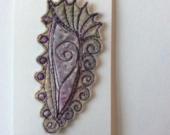 Fabulous felt brooch seashell inspired