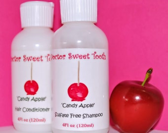 CANDY APPLE Argan Oil Shampoo & Conditioner Set (Sulfate and Paraben Free)