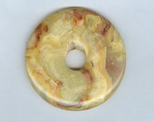 50mm Crazy Lace PI Donut Pendant  1110T