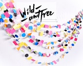 New* Wild & Free 15' Paper Garland wedding, party, decor, celebration