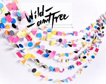 New* Wild & Free 15' Paper Garland wedding, party, decor, celebration