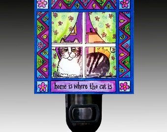 Home is Where the Cat Is Night Light