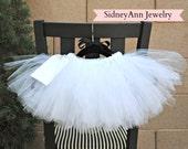 White Tutu Skirt, White Tulle Skirt, Little Girl Skirt, 1st Birthday Skirt, White Flower Girl Tutu Skirt, Light and Fluffy Tutu Skirt