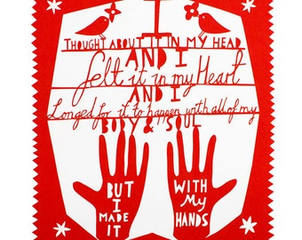 My Hands Red Limited Edition Lasercut