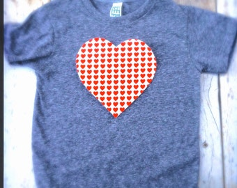 Valentine's Day big Heart love you T Shirt Applique- Kids Boys Girls Matching Twins Big Bro Lil Sis red white hearts children baby 1st