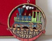 Vintage 1976 Hallmark Nostalgic Locomotive Christmas Ornament With Box