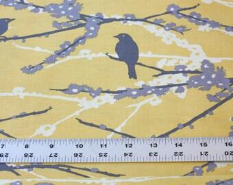 Joel Dewberry FABRIC - Aviary 2 - Sparrows - Vintage Yellow