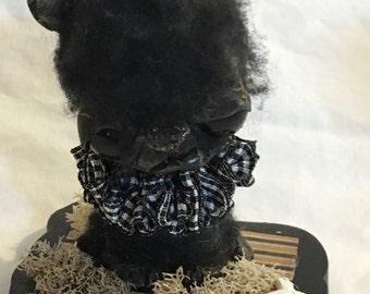 Brandy the black cat Ooak  art doll