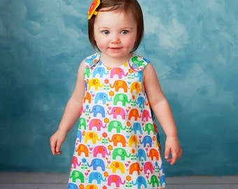 30% OFF The Perfect A Line Dress pattern - Baby and Toddler - Classic Reversible Dress / Jumper PDF pattern