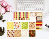 Thanksgiving Fall Planner Sticker Kit Erin Condren Horizontal Stickers
