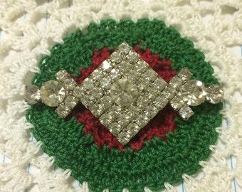Geometric Deco Vintage Rhinestone Glam Pin Brooch LotA5