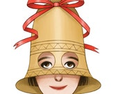 Christmas Hat Card: Bell