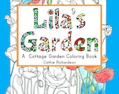 Lila's Garden Adult Coloring Book
