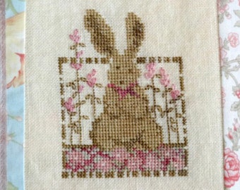 Easter Bunny Rabbit Cross Stitch PDF Pattern