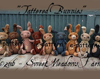 Tattered Bunnies Epattern Rabbits!