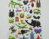 Cute Puffy Japanese Stickers - World of Bugs (1328)