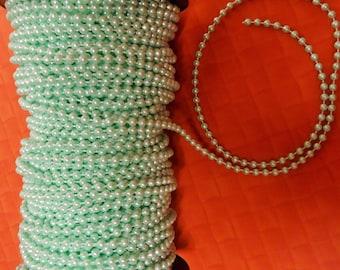Spool of Mint Green Bead Pearl Trim