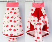 cherry up COURTNEYCOURTNEY italian greyhound upcycled jersey outfit top clothing fruit cherries rockabilly pink red