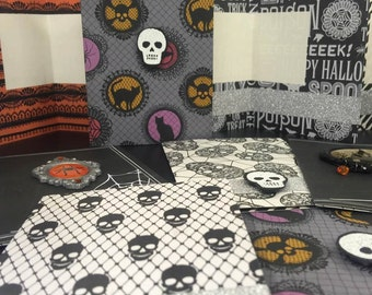 FREE Shipping Handmade Halloween Note Cards