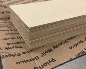"ON SALE - MDF -  4"" x 6"" x  1/8""  pieces (a baker's dozen) Free shipping"