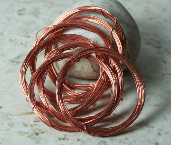 Solid copper wire 22g thick, 20 ft (item ID SCW22g)