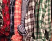 Vintage Flannel|Custom|Plain|or|Lightly Distressed|Bridesmaids|Oversized|Unisex|Flannel |shirt|long sleeve plaid|custom|medium|large|XL| XXL