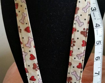 Dog Paws and Bones Lanyard
