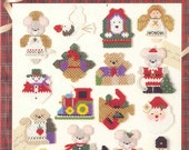 Christmas Magnets ~ plastic canvas leaflet  ~  NEW