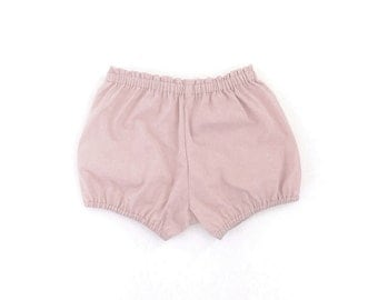 petal pink cotton bloomers / shorts / diaper cover
