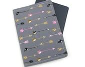 Arrows on Dark Grey Passport Cover, Passport Holder, Passport Wallet, Passport Case, Travel Gift