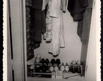 Vintage photo 1969 Women's Shoes Clothes Out of the Closet Vintage Snapshot